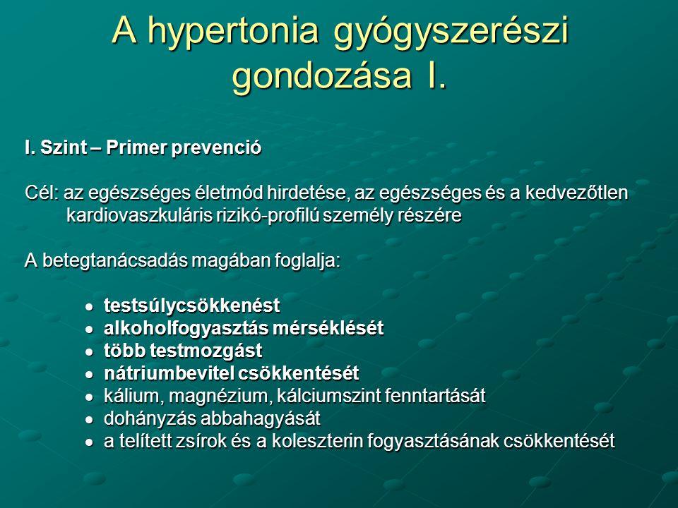 magas vérnyomás rendellenességek