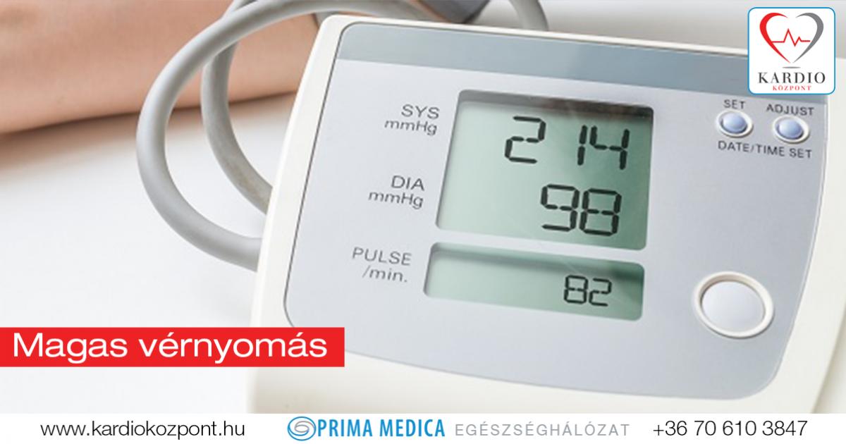 magas vérnyomás hipertónia